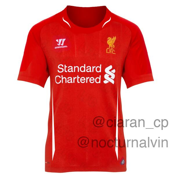 liverpool home shirt 2014 15 season Is This Liverpools Home Shirt for the 2014 15 Season? [PHOTO]