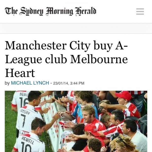 melbourne heart1 600x600 Why Manchester Citys Acquisition of Melbourne Heart is a Win Win