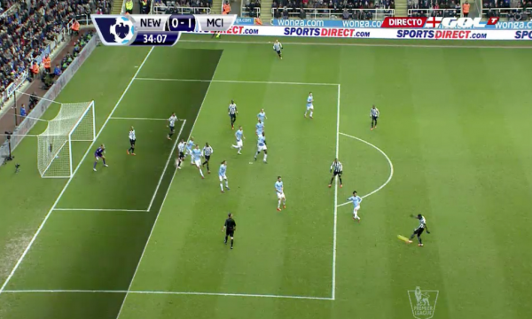 newcastle man city 600x360 Newcastles Cheick Tioté Scores Incredible Goal From Long Range, But Its Cruelly Disallowed [GIF]