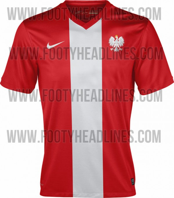 poland 2014 away shirt 600x682 Poland Away Shirt For 2014; A Bold, Classic Shirt From Nike: Leaked [PHOTO]