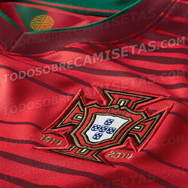 portugal world cup shirt closeup Portugal World Cup Shirt From Nike: Leaked [PHOTOS]