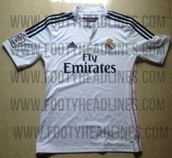 real madrid home shirt closeup 600x550 Real Madrid Home Shirt for the 2014/15 Season: Leaked [PHOTOS]
