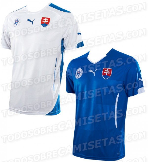 slovakia 2014 shirts 600x656 Slovakia Home and Away Shirts For 2014: Leaked [PHOTOS]