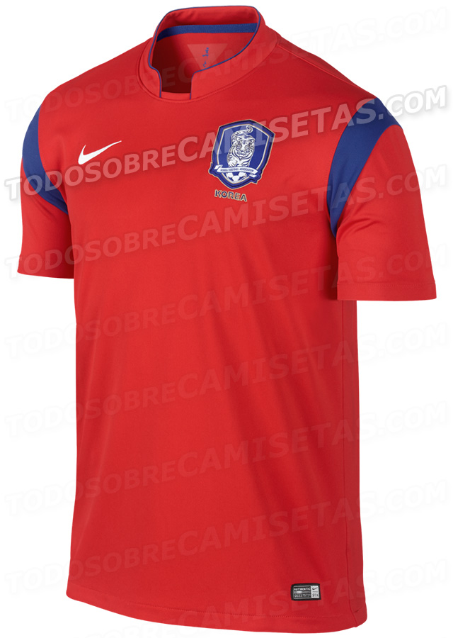 south korea world cup shirt home South Korea World Cup Shirt For 2014: Leaked [PHOTOS]