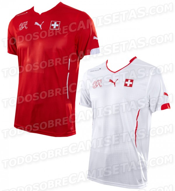 switzerland world cup shirts 600x656 Switzerland Home And Away Shirts For World Cup 2014: Leaked [PHOTO]