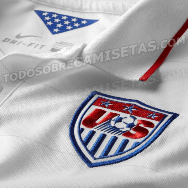 usmnt world cup shirt closeup 600x600 USMNT World Cup Shirt From Nike: Leaked [PHOTOS]