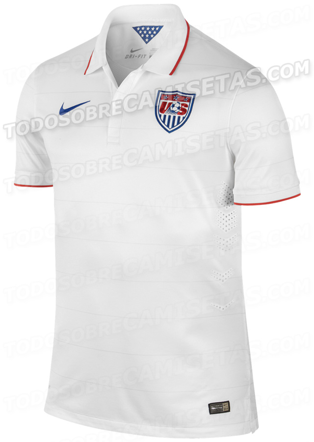 usmnt world cup shirt home Leaked Photos of World Cup Shirts That The 32 Teams Will Wear In Brazil