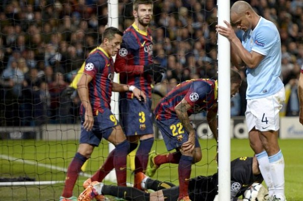 City Barca 600x399 UEFA Champions League: What We've Learnt From the Opening Round Of 16 Games