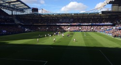 View from my seat at Stamford Bridge