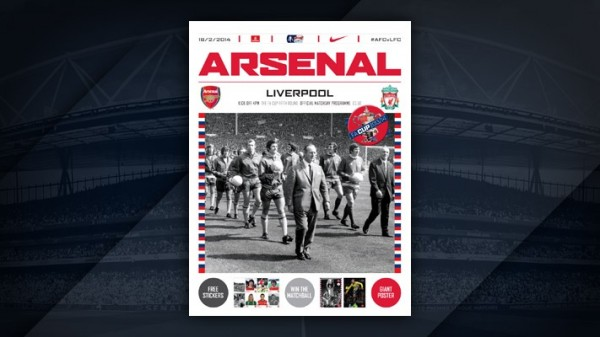 arsenal liverpool programme 600x337 Arsenal Liverpool FA Cup Game Sets Record Viewing Audience On FOX Sports 2