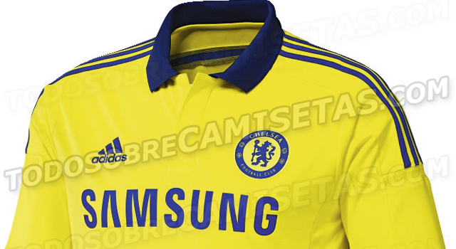 cheksea away shirt half Chelsea Away Shirt For 2014/15 Season Revealed: Leaked [PHOTO]