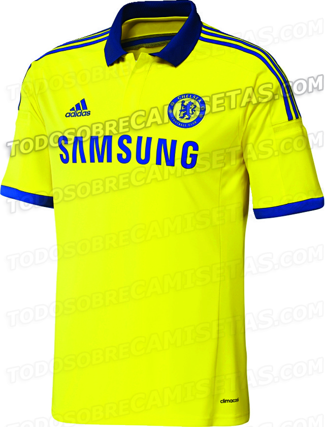 chelsea away shirt front Chelsea Away Shirt For 2014/15 Season Revealed: Leaked [PHOTO]