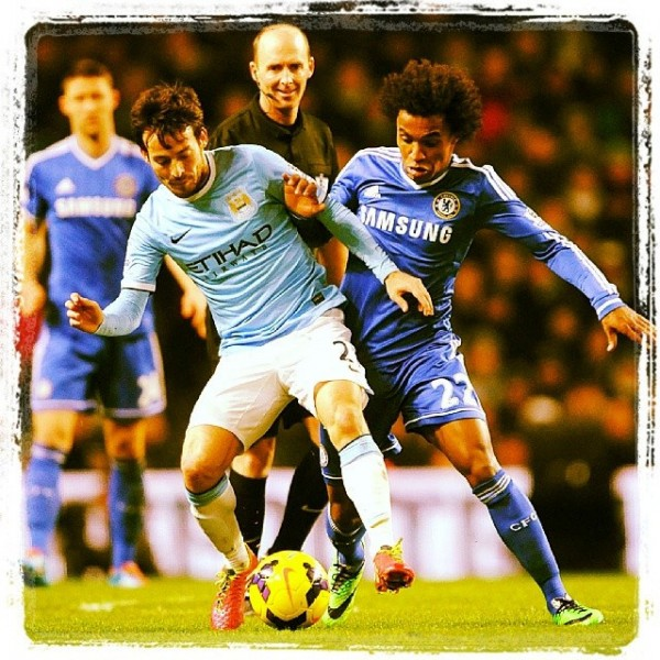 chelsea manchester city 600x600 Chelseas Matić and Willian Win Midfield Battle Against Under Strength Manchester City Side