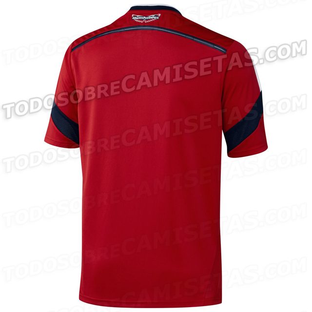 colombia away shirt back Colombia Away Shirt for World Cup 2014: New [PHOTOS]