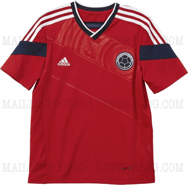 colombia away shirt complete 600x588 Colombia Away Shirt for World Cup 2014: New [PHOTOS]