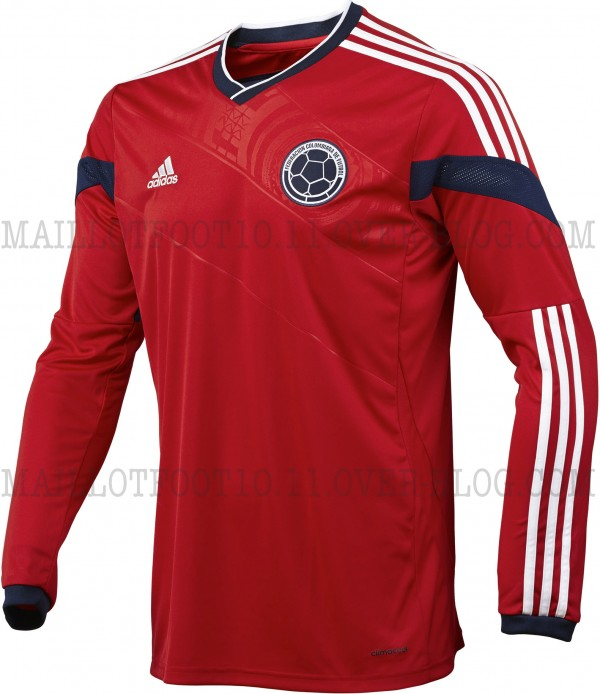 colombia away shirt long sleeve 600x694 Colombia Away Shirt for World Cup 2014: New [PHOTOS]