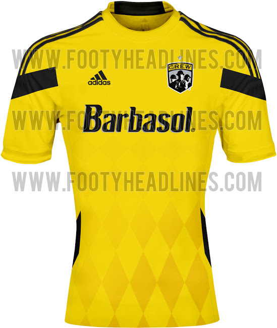 columbus crew home shirt1 MLS Jerseys For 2014 Season Revealed For All 19 Teams: Leaked [PHOTOS]