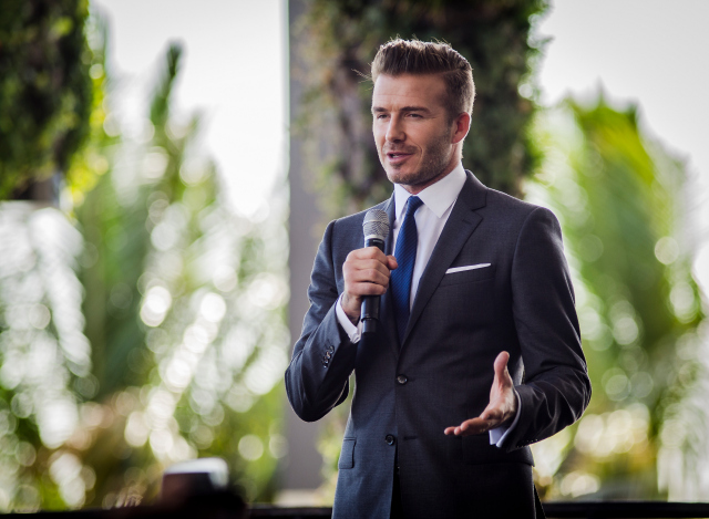 david beckham David Beckhams Miami MLS Press Conference: Photos And Video