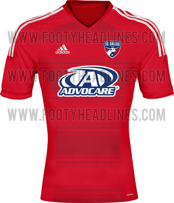 fc dallas home shirt1 MLS Jerseys For 2014 Season Revealed For All 19 Teams: Leaked [PHOTOS]