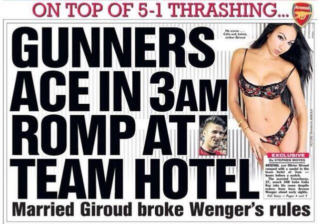 giroud affair Arsenal Striker Olivier Giroud Apologizes On Twitter For Extra Marital Affair