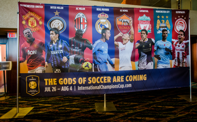 gods of soccer 2014 International Champions Cup Press Conference [PHOTOS]