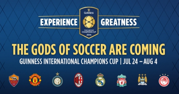 All eight teams competing in the second International Champions Cup
