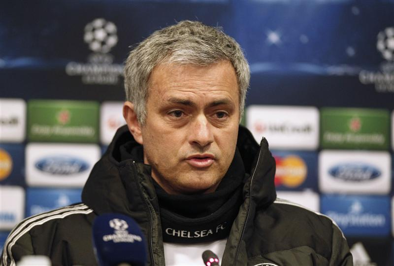 Chelsea's manager Mourinho attends a news conference a day before their Champions League soccer match against Galatasaray in Istanbul