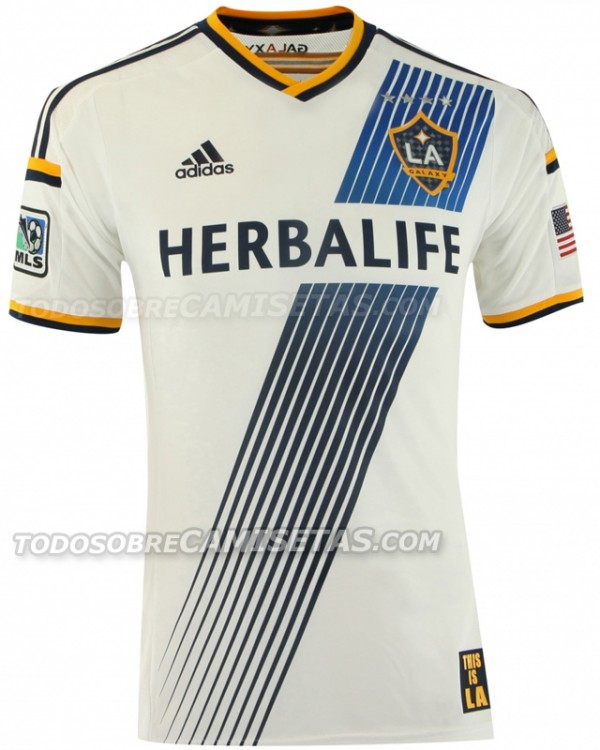 la galaxy home shirt 600x750 MLS Jerseys For 2014 Season Revealed For All 19 Teams: Leaked [PHOTOS]