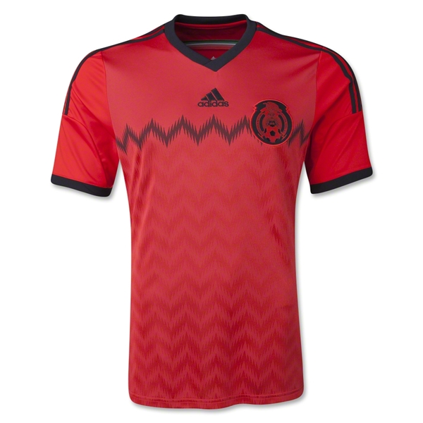 mexico away shirt front Mexico Away Shirt For 2014 FIFA World Cup Goes Red And Black: Official [PHOTOS]