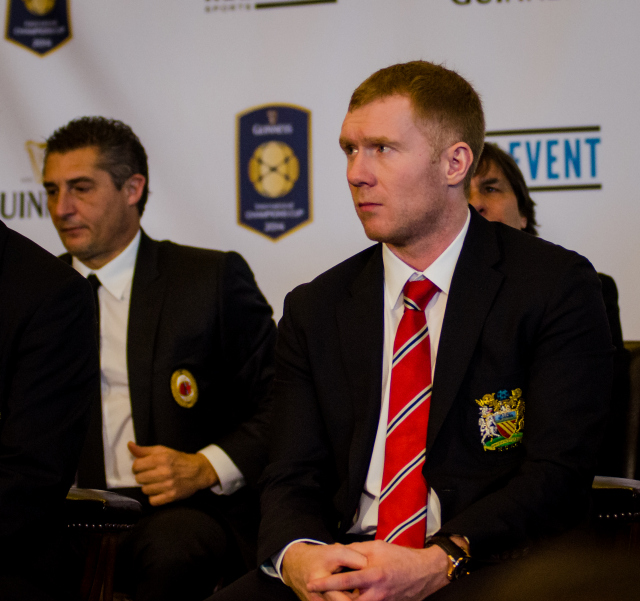 paul scholes 2014 International Champions Cup Press Conference [PHOTOS]