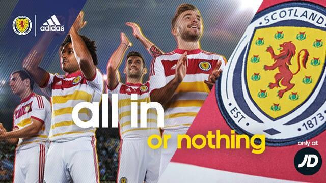 scotland away shirt all in Scotland Away Shirt For 2014 15 Is Colorful And Historic: Official [PHOTOS]