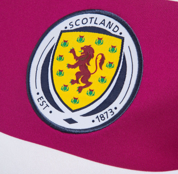 scotland away shirt crest Scotland Away Shirt For 2014 15 Is Colorful And Historic: Official [PHOTOS]