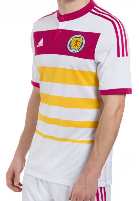 scotland away shirt front Scotland Away Shirt For 2014 15 Is Colorful And Historic: Official [PHOTOS]