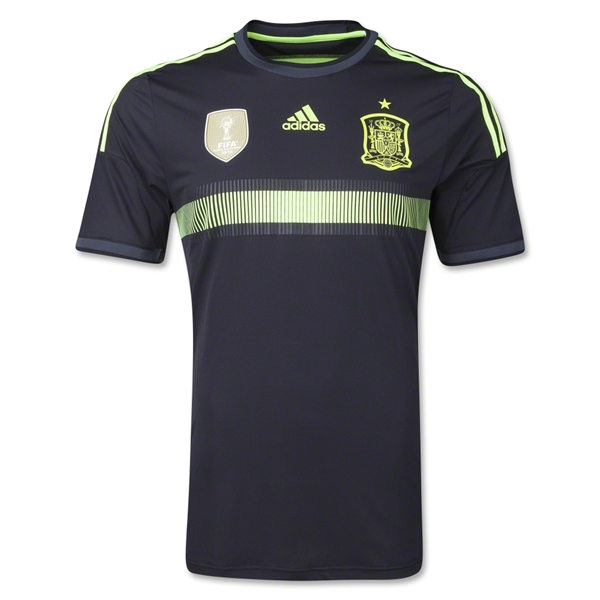 spain away shirt world cup Spains Away Shirt For the 2014 FIFA World Cup Is Black and Neon: Official [PHOTOS]