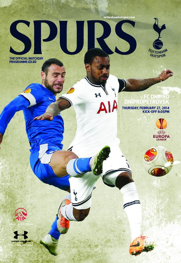 spurs dnipro programme Tottenham Hotspur vs Dnipro, UEFA Europa League Round of 32 2nd Leg: Open Thread