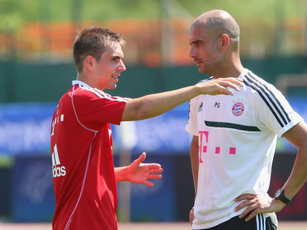 Lahm Guardiola1 600x450 Philipp Lahm's Adaptability Will Inspire Bayern Munich and Germany To New Heights