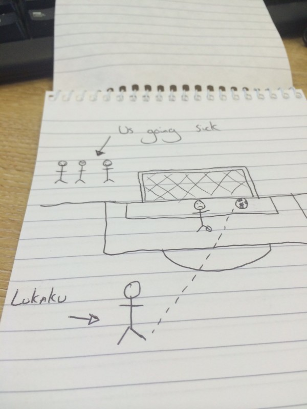 Lukaku Drawing1 e1394559094987 600x800 Experiencing The FA Cup Quarterfinal In Person: The Heart Of English Football