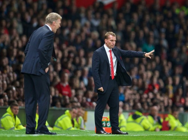 Rodgers Old Trafford 600x445 Brendan Rodgers, the Catalyst for Liverpool's Remarkable Rise