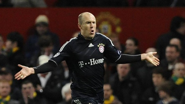 Bayern Munich playmaker Arjen Robben is arguably the world's third best soccer player