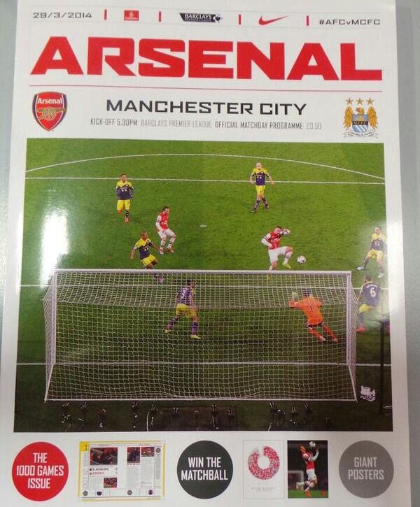 arsenal manchester city programme Premier League Saturday, Gameweek 32: Open Thread