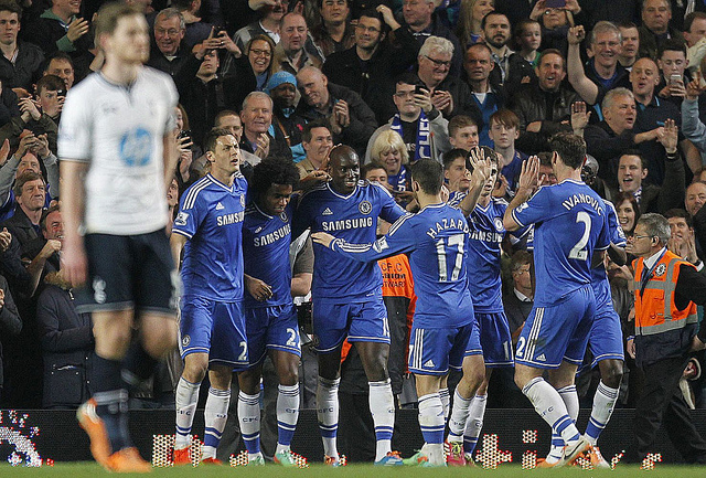 chelsea spurs1 Tottenham Footballers Lacking Character, Leadership and Fight In Erratic Season