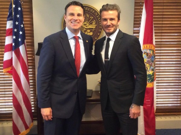 david beckham 600x449 David Beckham Meets With Politicians In Tallahassee In Hopes of Receiving Funding For Stadium [PHOTOS]