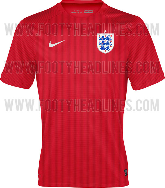 england world cup away shirt England Away Shirt For FIFA World Cup 2014 From Nike: Leaked [PHOTO]