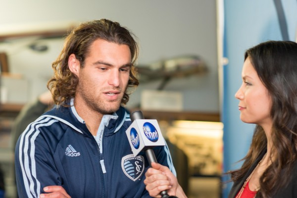 graham zusi interview 600x400 Sporting Kansas City Away Shirt For 2014 MLS Season Revealed: Media Event & Trophy Party [PHOTOS]