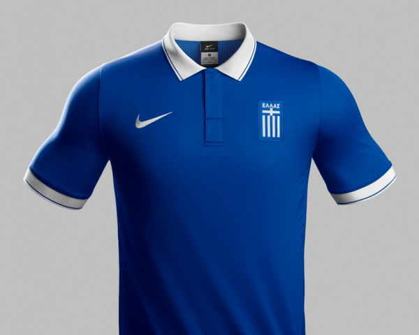greece world cup away shirt 600x480 Greece World Cup Shirts Home And Away Unveiled For 2014: Official [PHOTOS]
