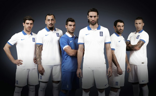 greece world cup shirt group 600x371 Greece World Cup Shirts Home And Away Unveiled For 2014: Official [PHOTOS]