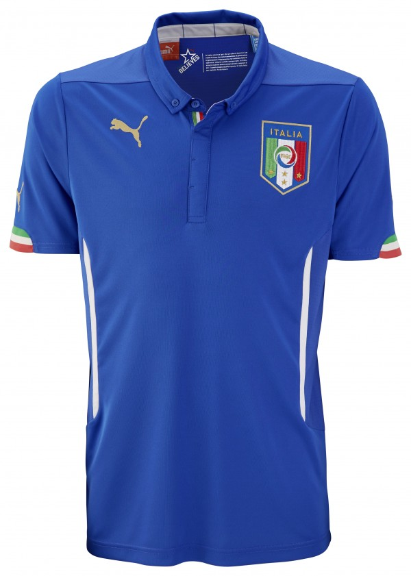italy home shirt world cup 600x841 Italy and Puma Unveil 2014 World Cup Home and Away Shirts: Official [PHOTOS]