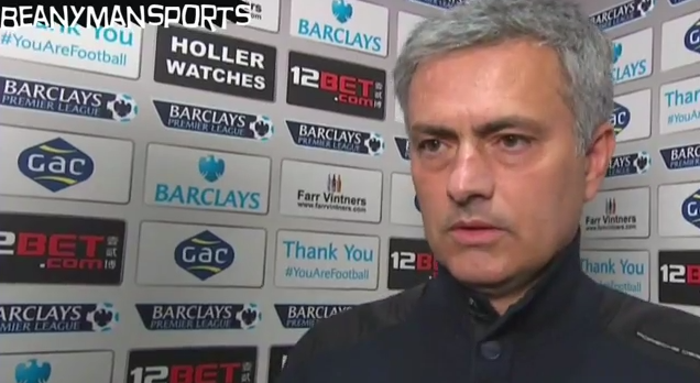 jose mourinho Jose Mourinho Says Chelseas Title Hopes Are Over After Defeat to Crystal Palace [VIDEO]