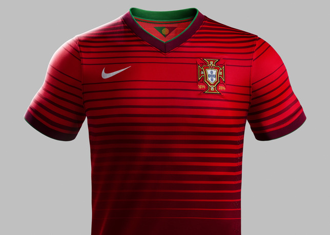 portugal world cup home shirt front Nike Unveils Portugal World Cup Home Shirt For 2014: Official [PHOTOS]