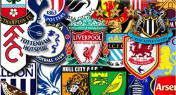 The team crests for this season's Premier League